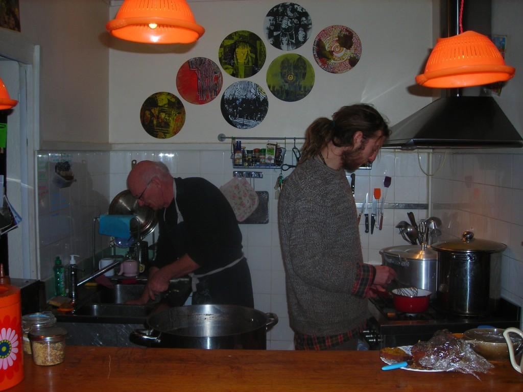 André et J B en cuisine